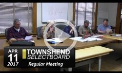 Townshend Selectboard Mtg 4/11/17