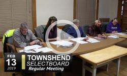 Townshend Selectboard Mtg 2/13/19
