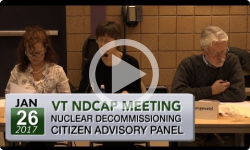 VT Nuclear Decommissioning Citizens Advisory Panel: 1/26/17