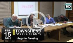 Townshend Selectboard Mtg 2/15/16