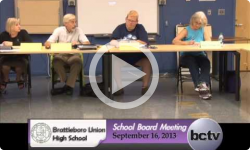 Brattleboro Union High School Bd. Mtg. 9/16/13