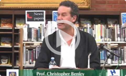1st Weds.  Prof. Chris Benfey 10/05/11