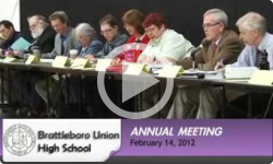 Brattleboro Union High School Board Annual Meeting 2/14/2012