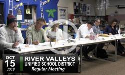 RVUSD School Board Mtg 10/15/18