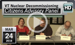VT Nuclear Decommissioning Citizens Advisory Panel: 3/25/16