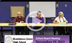 Brattleboro Union High School Bd. Mtg. 11/19/12
