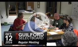 Guilford Selectboard Mtg 10/12/16