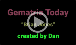 Gematria Today: Brian Jones