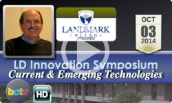 Landmark College Presents: 2014 Symposium- Dr. Mark Hakkinen