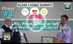 2016 Slow Living #3: Fix, Pivot, Close, or Sell - Wellington, Cole