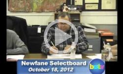 Newfane Selectboard Mtg. 10/18/12