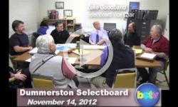 Dummerston SB Mtg. 11/14/12