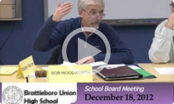 Brattleboro Union High School Bd. Mtg. 12/17/12