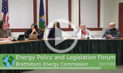 Brattleboro Energy Policy and Legislation Forum 12/17/18
