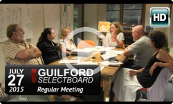 Guilford Selectboard Mtg 7/27/15