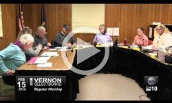 Vernon Selectboard Mtg. 2/15/16