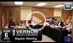 Vernon Selectboard Mtg 6/6/16