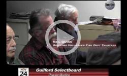 Guilford Selectboard Mtg 12/8/14