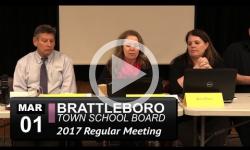 Brattleboro Town School Bd Mtg 3/1/17