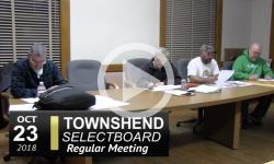Townshend Selectboard Mtg 10/23/18
