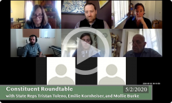 Community Forum: With VT State Reps Tristan Toleno, Emilie Kornheiser, and Mollie Burke 5/2/20