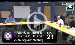 BUHS School Board Mtg 3/21/16