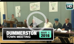 2016 Dummerston Town Meeting 3/2/16
