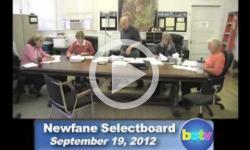 Newfane Selectboard Mtg. 9/19/12