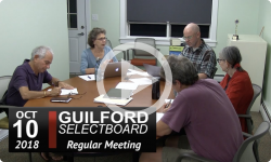 Guilford Select Board Mtg 10/10/18