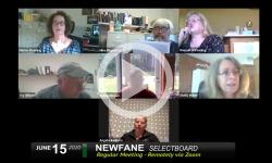 Newfane Selectboard: Newfane SB Mtg 6/15/20