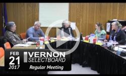 Vernon Selectboard Mtg 2/21/17