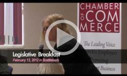 Legislative Breakfast in Brattleboro 2/13/12