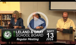 Leland and Gray School Board Mtg 9/13/16
