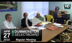 Dummerston Selectboard Mtg 4/27/16