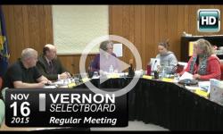 Vernon Selectboard Mtg 6/15/15