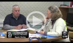 Dummerston Selectboard Mtg. 12/23/15