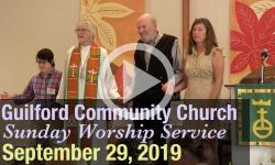 Guilford Church Service - 9/29/19