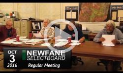 Newfane Selectboard Mtg 10/3/16