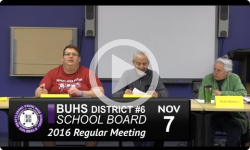 BUHS School Board Mtg 11/7/16