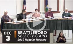Brattleboro Selectboard Mtg 12/3/19