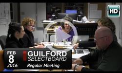 Guilford Selectboard Mtg 2/8/16