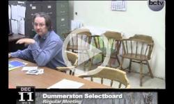 Dummerston Selectboard Mtg. 12/11/13