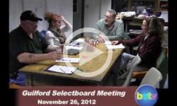 Guilford Selectboard Mtg. 11/26/12