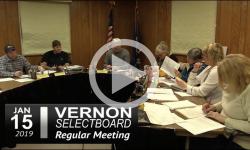 Vernon Selectboard Mtg 1/15/19