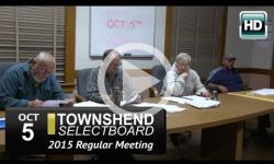 Townshend Selectboard: 10/5/15