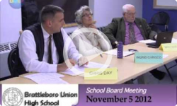Brattleboro Union High School Bd. Mtg. 11/5/12