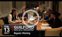 Guilford Selectboard Mtg 2/13/17