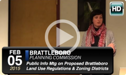 Public Forum on Proposed Brattleboro Zoning Districts 2/5/15