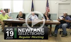Newfane Selectboard Mtg 8/19/19