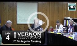 Vernon Selectboard Mtg 1/4/16